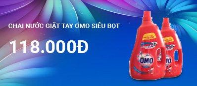 Chai nước giặt tay Omo siêu bọt 2.7Kg