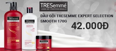 Dầu gội Tresemme Expert Selection Keratin Smooth 170g