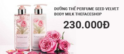 Dưỡng thể Perfume Seed Velvet Body Milk Thefaceshop