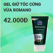 Gel Giữ tóc cứng vừa Romano Classic Deluxe Styling 150g