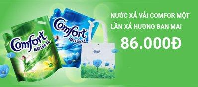 Nước xả vải Comfort đậm đặc một lần xả Hương Ban Mai 1.6L