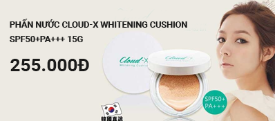 Phấn nước Cloud-X Whitening Cushion SPF50+PA+++ 15g