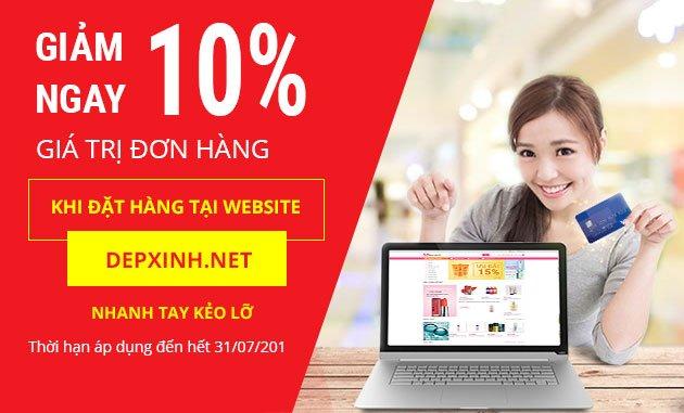 Giảm 15% khi mua hàng trên website depxinh.net
