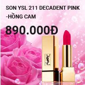 Son YSL 211 Decadent Pink - Hồng Cam