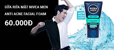 Sữa Rửa Mặt Nivea Men Anti Acne Oil Control Mud Foam 100g