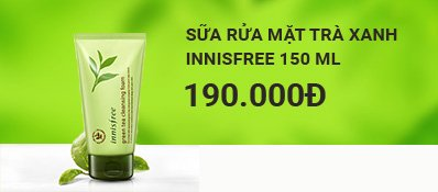 Sữa rửa mặt trà xanh Innisfree Green Tea Cleansing Foam 150 ml