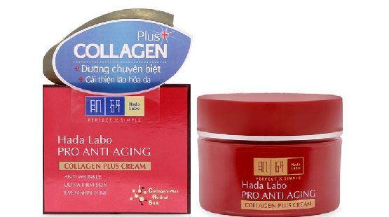 Review kem dưỡng cải thiện lão hóa Hada Labo Pro Anti Aging Collagen Plus Cream
