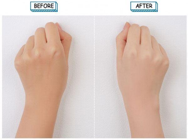 Làn da trước và sau khi dùng 3CE White Milk Cream