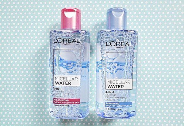 nước tẩy trang dưỡng ẩm L'Oréal Micellar Water 3 trong 1 cho da khô và da thường