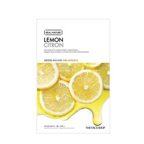Mặt nạ trái chanh Real Nature Lemon Citron TheFaceShop 20g