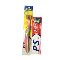 Bộ đôi bàn chải và kem đánh răng em bé PS 2 đến 6 tuổi