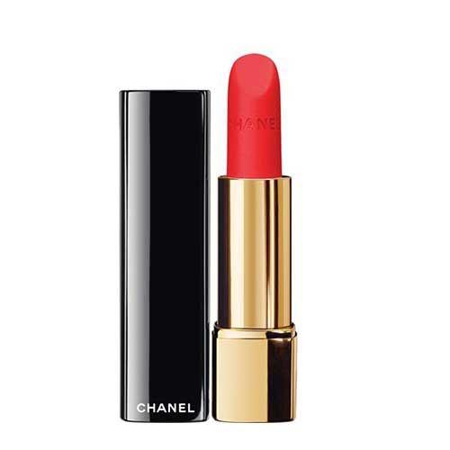 Son Chanel Rouge Allure Velvet 60 Rouge Troublant Cam Tươi