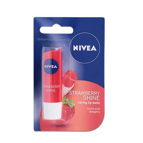 Son dưỡng ẩm sắc đỏ dâu tây Nivea Strawberry Shine 4.8g