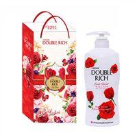 Hộp quà sữa tắm dưỡng da Double Rich hương hoa hồng 550g
