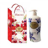 Hộp quà sữa tắm dưỡng da Double Rich hương hoa Iris 550g