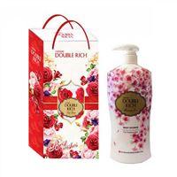 Hộp quà sữa tắm dưỡng da Double Rich hương hoa anh đào 550g