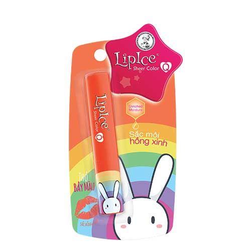 Son dưỡng có màu LipIce Sheer Color phiên bản Thỏ Bảy Màu - Hồng Cam