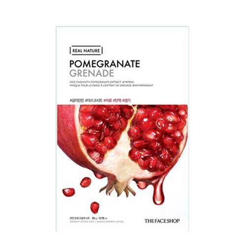 Mặt nạ trái lựu Real Nature Pomegranate Grenade TheFaceShop 20g
