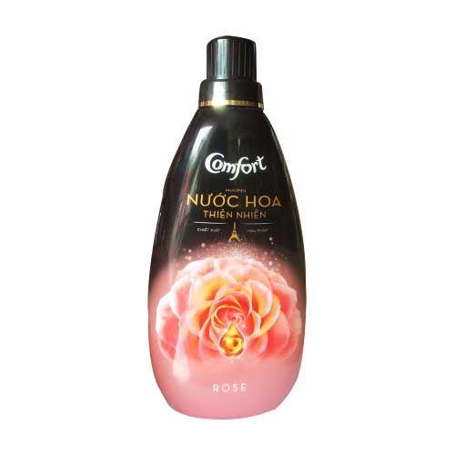 Nước xả vải Comfort Rose hương nước hoa thiên nhiên hoa hồng 800ml