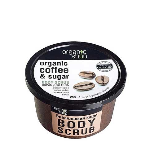 Tẩy tế bào chết toàn thân cà phê Organic Coffee and Sugar Body Scrub 250ml