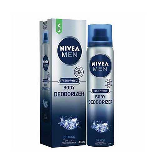 Xịt ngăn mùi toàn thân Nivea Men Fresh Protect Ice Cool 120ml Hương Băng