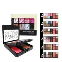 Set phấn má - màu mắt -  kẻ mày Sivanna Colors Beauty Staple Palette HF554