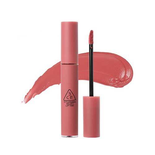 Son kem 3CE Velvet Lip Tint Pink Break - Hồng Đào