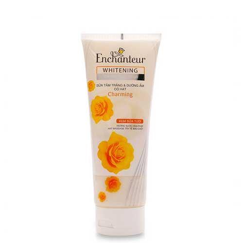 Sữa tắm trắng và dưỡng ẩm có hạt Enchanteur Whitening Creamy Body Scrub Charming 175g