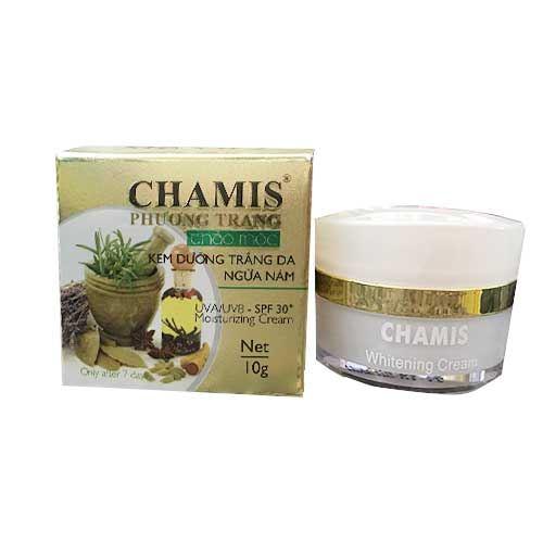 Kem dưỡng trắng da ngừa nám thảo mộc Chamis 10g