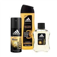 Bộ sản phẩm  tắm gội và xịt khử mùi nước hoa Adidas Victory League
