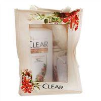 Dầu gội trị gàu Clear thảo dược 650g - Tặng khăn tắm và đá mài gót chân