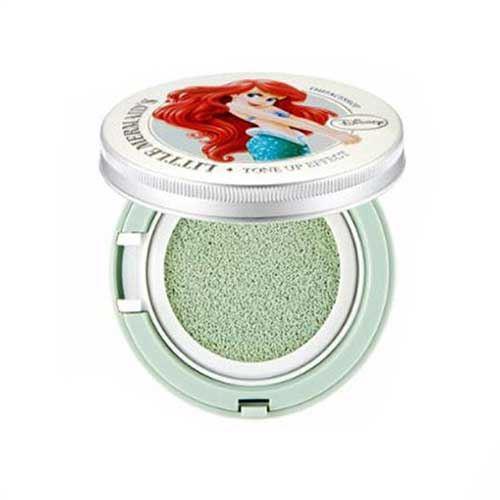 Phấn nước The Face Shop Tone Up Cushion 01 Mint - Little Mermaids 15g