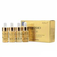 Set 4 chai Serum ngừa lão hóa Bergamo Luxury Gold Collagen and Caviar 13ml