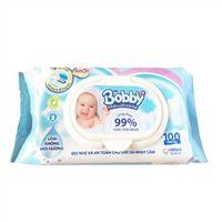 Khăn ướt em bé Bobby không mùi 100 tờ