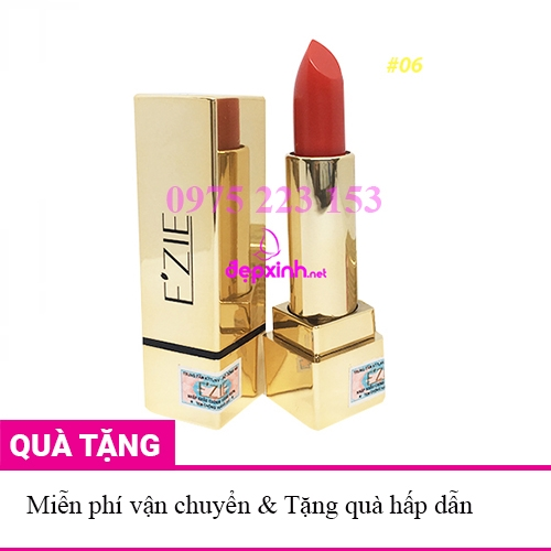 Son lì dưỡng môi cao cấp Ezie 06 Coral Pink - Hông San Hô 4g