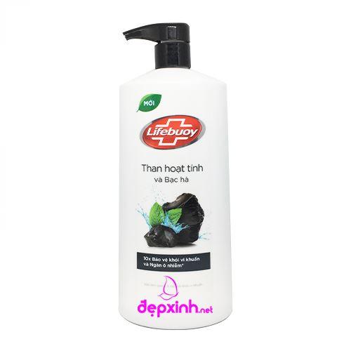 Sữa tắm detox bảo vệ da Lifebuoy than hoạt tính và bạc hà 850g