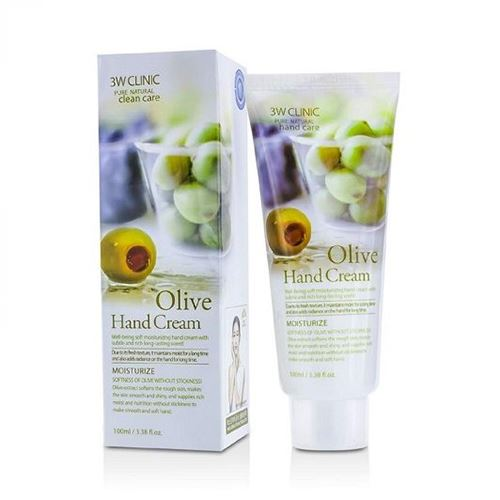 Kem dưỡng da tay 3W Clinic tinh chất Olive 100ml