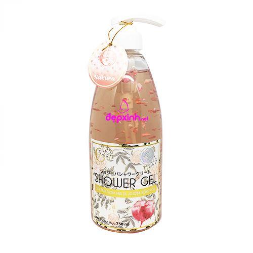 Sữa tắm thơm mịn da Jojoba Bông Hoa New Moon Shower Gel 750ml