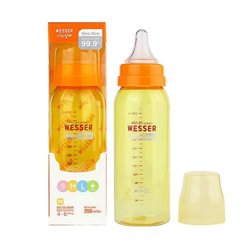 Bình sữa Wesser công nghệ Nano Silver 250ml