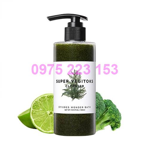 Sữa rửa mặt rau củ thải độc Byvibes Wonder Bath Super Vegitoks Cleanser 300ml