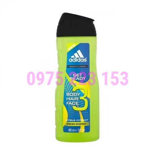 Tắm gội toàn thân nam Adidas Get Ready Citrus Extract 400ml