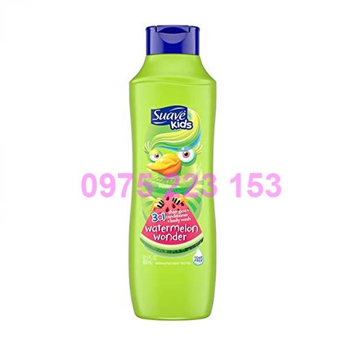 Tắm gội toàn thân em bé Suave Kid Water Melon 665ml