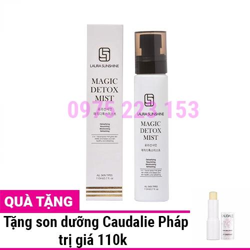 Xịt khoáng thải độc Laura Sunshine Magic Detox Mist 4in1 110ml