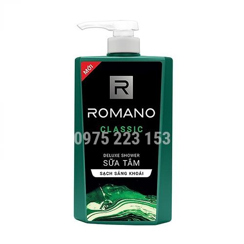Sữa tắm hương nước hoa Romano Classic hương sảng khoái 650g