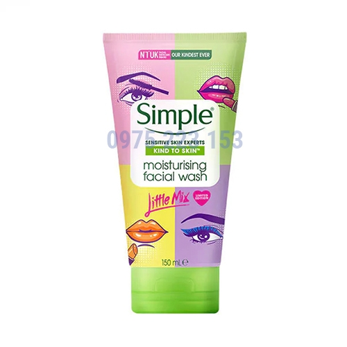 Sữa rửa mặt dành cho da dầu Simple Moisturising Facial Wash 150ml - Mẫu mới