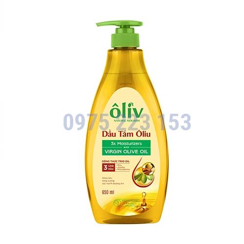 Dầu tắm dưỡng da Oliu  Oliv Natural Nourish Virgin Olive Oil 650ml