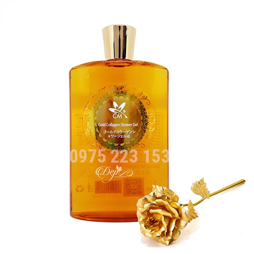 Gel tắm trắng da CM Gold Collagen and Whitening Shower 700ml
