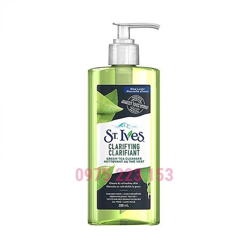 Gel rửa mặt trị mụn trà xanh St.Ives 200ml