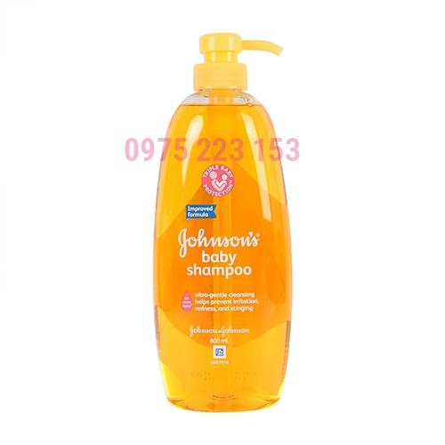 Dầu gội dịu nhẹ cho bé Johnsons Baby Shampoo 800ml