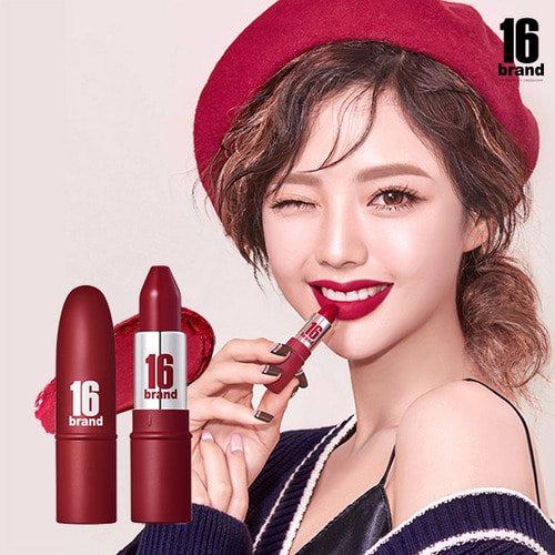 Son ống bơ 16 Brand RU16 Cherry Almond 3.4g - Đỏ Cherry